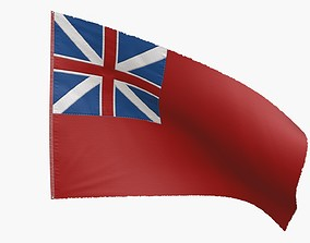 British Red Naval Ensign 1707-1801 3D model