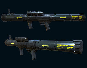 low-poly Mk153 SWAM Anti-Tank Rocket Launcher Gaming Model