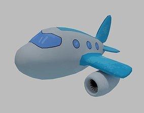 3D model Cartoon Airplane