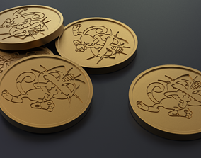 Pokemon - Collectable Meowth Coin 3D printable model