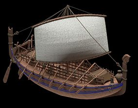 3D model Phoenician Ship
