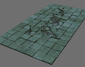 architectural The surface is broken 3D model
