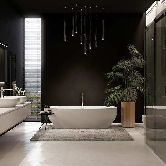 Modern bathroom in private house