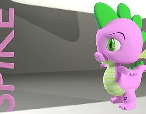 game-ready My Little Pony Spike 3D Model