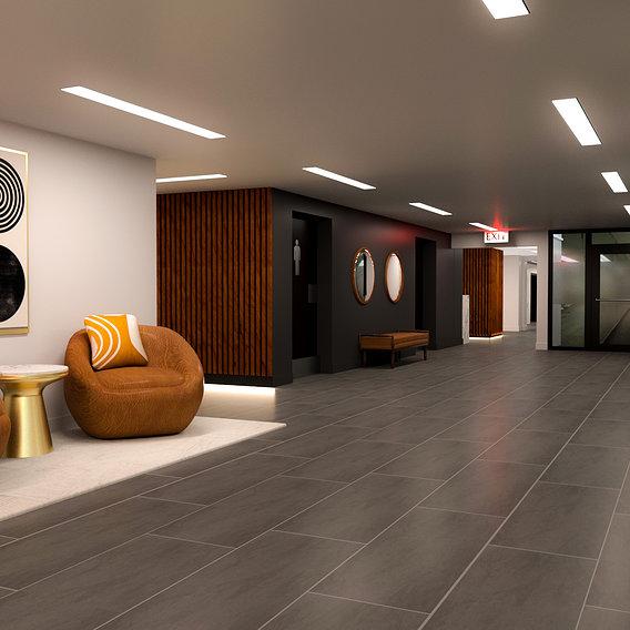 Windsor Apartment Building Hallway Renovation