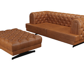 3D Royce Sofa and Puff