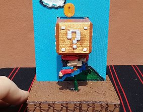 luigi 3D print model Jumping Mario Bros