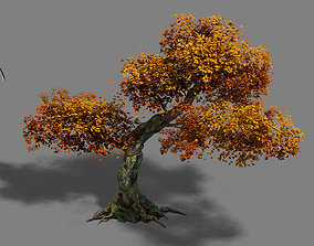 3D model Plant - red tree 02