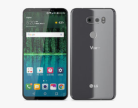 LG V30s ThinQ Platinum Gray 3D