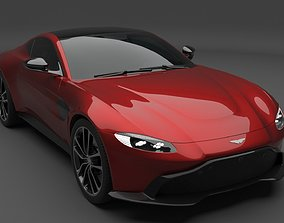 3D Aston Martin Vantage with Burnout Scene