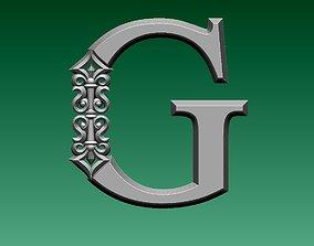 letter G 3D printable model