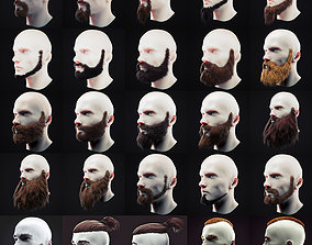 Beard Low Poly Pack 3D model