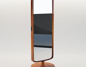 3D model Dressing mirror - Art Deco 1930 wall-mirror