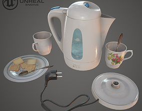 3D asset Teapot electric
