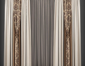 Curtain 3D model 145 game-ready