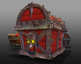 3D Pirate Chests - Game Ready low-poly