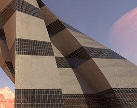 Sci fi Tower Concrete And Windows 3D model