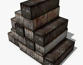 Old Cargo Containers 3D model low-poly