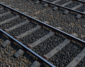 3D asset Rails Material and model