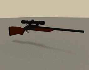 3D model A Highly Realistic Rifle D