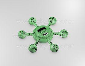 spinner 3D printable model Hulk Spinner