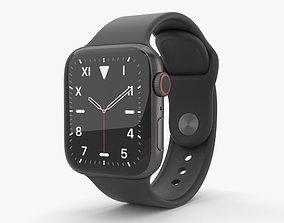 3D model Apple Watch Series 5 40mm Space Black Titanium 2