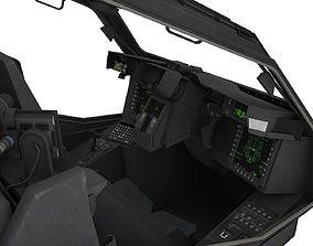 Apache Cockpit 3D model