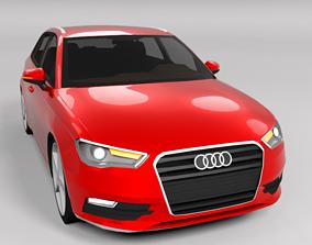 3D model AUDI A3 2013 LOWPOLY