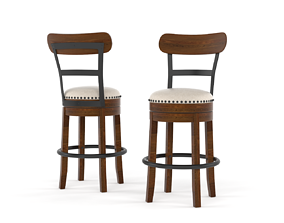 3D Brown Barstool