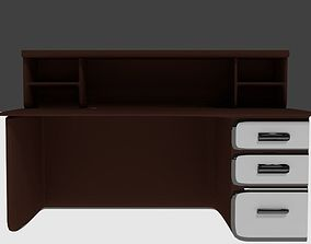 3D model low-poly Study Table