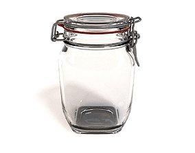 Glass Jar - medium 3D