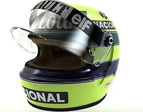 Ayrton Senna Helmet 1986 3D asset