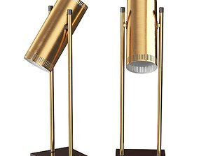Trombone Desk Lamp by Jo Hammerborg 3D