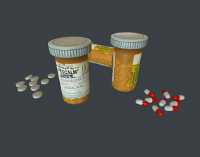 PillsBottle 3D asset