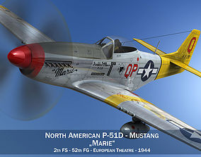 3D model North American P-51D Mustang - Marie