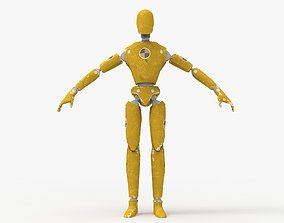 Crash Test Dummy Robot Android 3D model animated