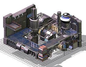 Future world - factory - indoor 3D model