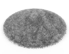 3D furniture Round and hairy carpet