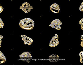 3D model Collection of 10 Rings 70 Percent Discount