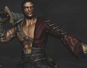 Samurai Warrior - With Armor-Sword-Katana - Model High