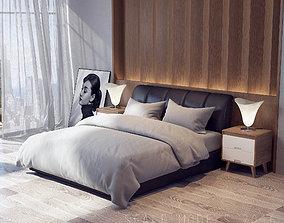 Modern Bedroom 3D model lamp