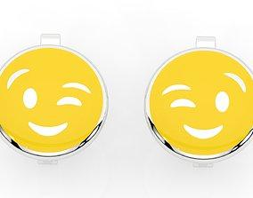 3D print model childrens earrings smile