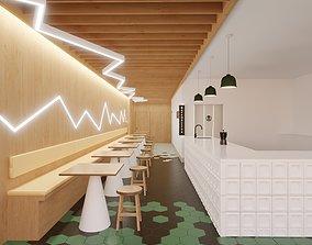 3D model Cafe bar