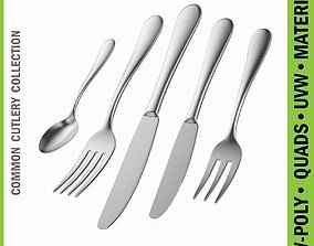 Common Cutlery Set 5 Pieces 3D model