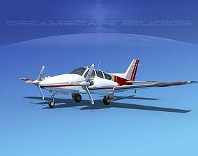 3D model Beechcraft B55 Baron V12