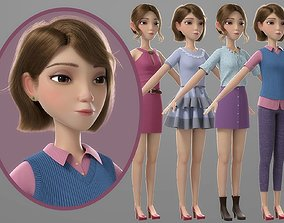 Cartoon Girl 3D