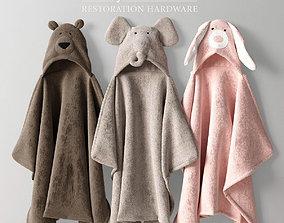 ANIMAL HOODED TOWELS 3D model