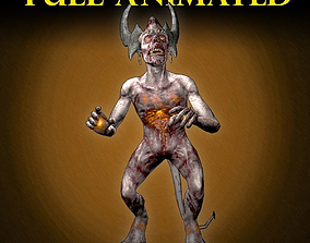 3D asset Demon Mage