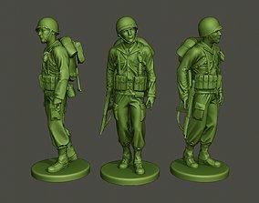 3D printable model American soldier ww2 walk A2