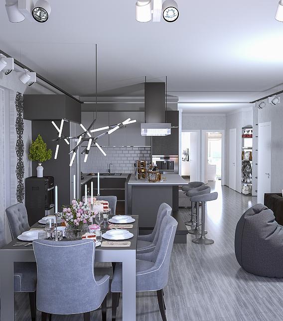 Apartment Interior ,3D's Max 2020,Corona Render 3.2